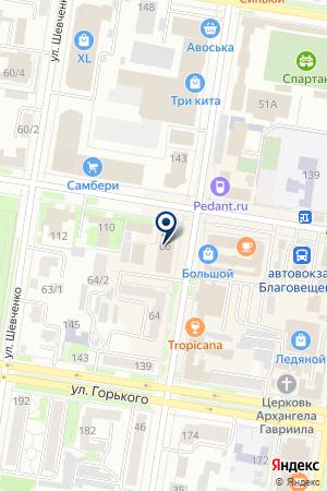 АКБ АЗИАТСКО-ТИХООКЕАНСКИЙ БАНК на карте Благовещенска