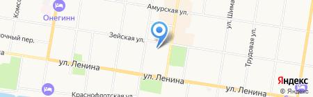 Детский сад №10 на карте Благовещенска