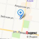 Магазин мясных деликатесов на карте Благовещенска