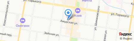 Столовая №1 Копейка на карте Благовещенска