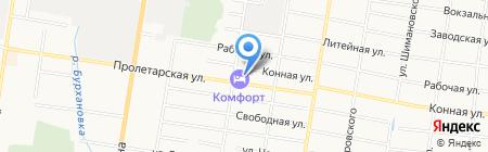 Полимерка на карте Благовещенска
