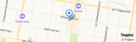 Магазин российского трикотажа на карте Благовещенска
