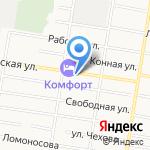 Автопоставка на карте Благовещенска