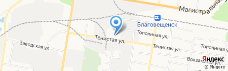 Троллейбусное управление на карте Благовещенска
