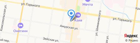 АВИА Ж\/Д КАССА на карте Благовещенска