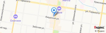 Topy на карте Благовещенска