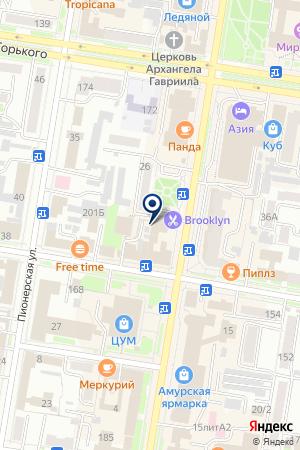 Дальневосточный Феникс на карте Благовещенска