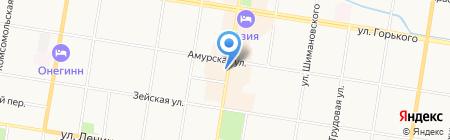 Киоск по продаже мороженого на карте Благовещенска
