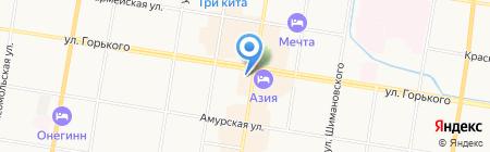 24 часа на карте Благовещенска