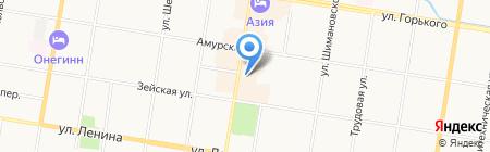 Золотая VIP рыбка на карте Благовещенска