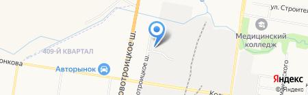 Сервер на карте Благовещенска