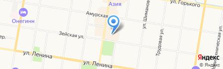 Евгения на карте Благовещенска