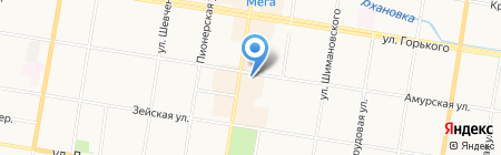Учебно-методический центр по гражданской обороне на карте Благовещенска