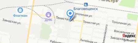 Актив на карте Благовещенска