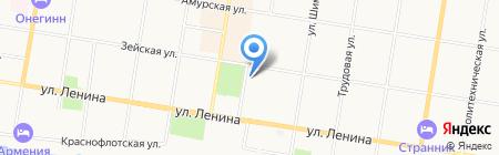 Магазин кожгалантереи и головных уборов на карте Благовещенска