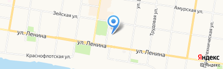 Амурский Градъ на карте Благовещенска