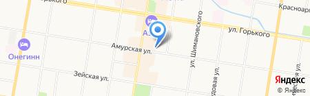 Адвокатский кабинет Федорашко В.С. на карте Благовещенска