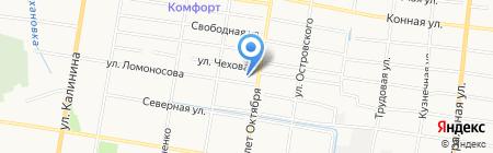 Люнет на карте Благовещенска