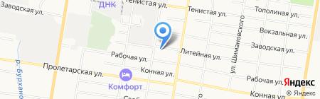 Памятник на карте Благовещенска