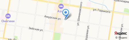 Амурский на карте Благовещенска