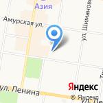 Амурская юридическая компания на карте Благовещенска
