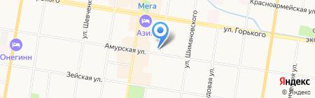 EKSTAZ на карте Благовещенска