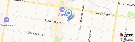 Квартиры внаем на карте Благовещенска