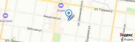 Астрея на карте Благовещенска