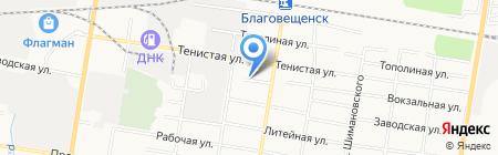 Амур Пробка на карте Благовещенска