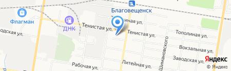 АмурСтройКом на карте Благовещенска
