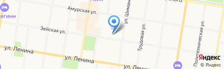 Зачетное на карте Благовещенска