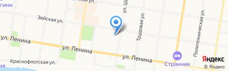 Детский сад №28 на карте Благовещенска