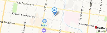 Градо на карте Благовещенска
