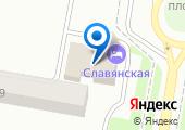 Славянская на карте