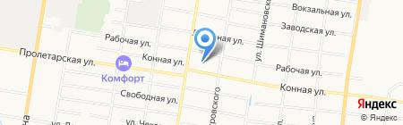 Пегас на карте Благовещенска