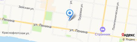 Коммунистическая партия РФ на карте Благовещенска