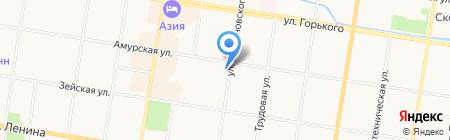 Аптека на Амурской на карте Благовещенска