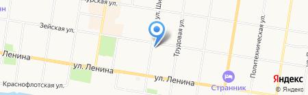 Хитрый шурик на карте Благовещенска