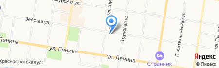 Детский оздоровительный лагерь им. Ю.А. Гагарина на карте Благовещенска