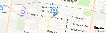 Тендер-профи на карте Благовещенска