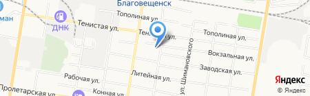 Пожарная часть №1 на карте Благовещенска