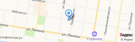 Хорос на карте Благовещенска