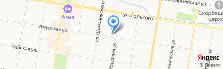 Центр занятости населения г. Благовещенска на карте Благовещенска
