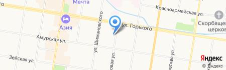 Благовещенская транспортная прокуратура на карте Благовещенска