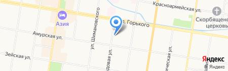 Гостиница на Трудовой на карте Благовещенска