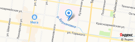Вратарь на карте Благовещенска