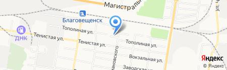 Детский сад №5 на карте Благовещенска
