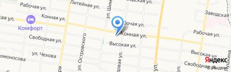 Аэро-химчистка на карте Благовещенска