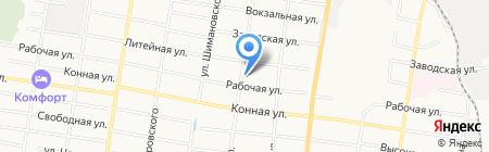 Конёк на карте Благовещенска