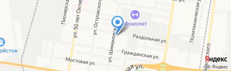 Магазин автозапчастей для грузовых автомобилей на ул. Шимановского на карте Благовещенска